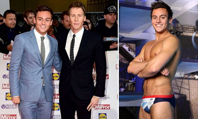 Tom Daley reveals his relationship with Dustin started with a winky face emoji