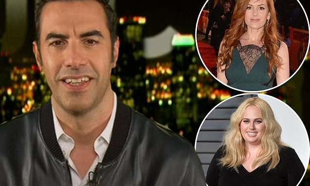 Sacha Baron Cohen jokes about casting Rebel Wilson as his love interest in Grimsby
